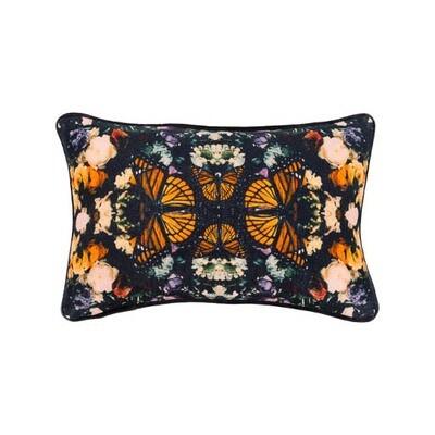 Butterfly Print Lumbar Pillow