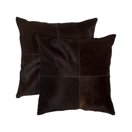 Cowhide Brown Pillow