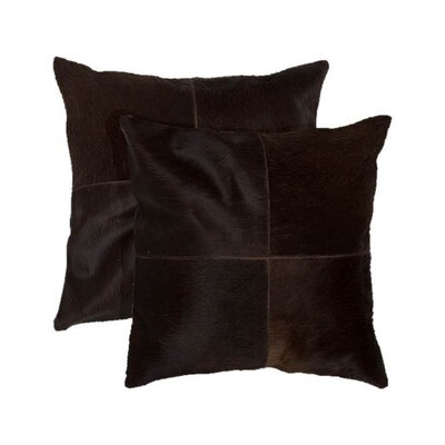 Cowhide Brown Pillow