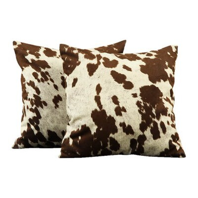 Cowhide Chocolate Brown Pillow