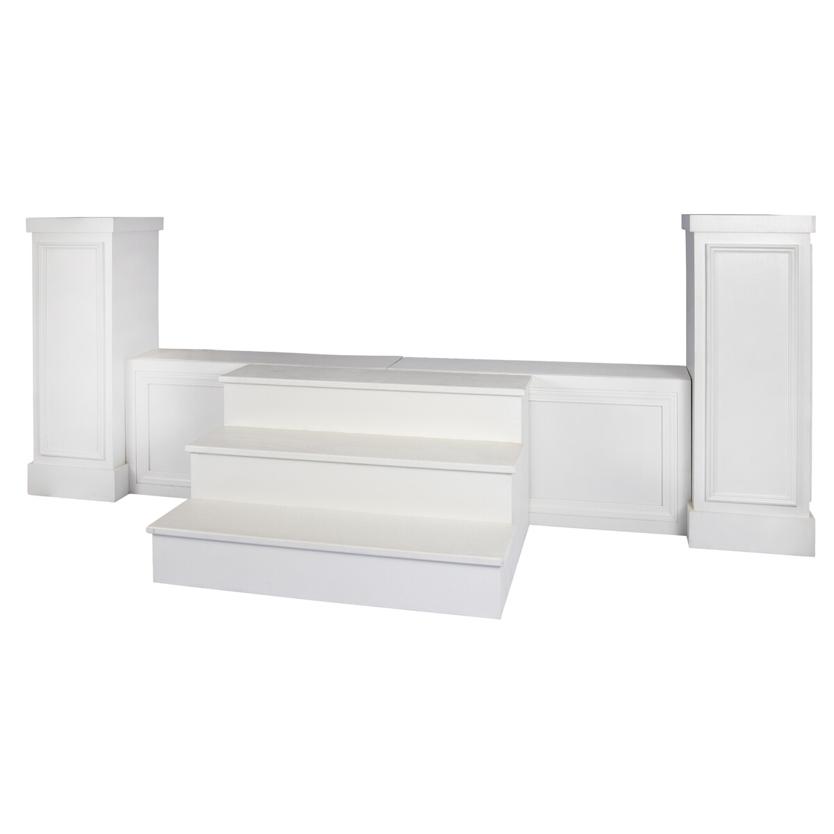 White Trim Stage Stairs