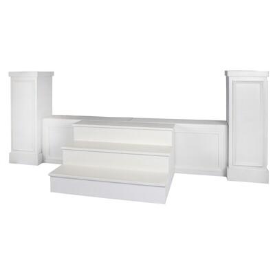 White Trim Stage Surround Columns (Pair)