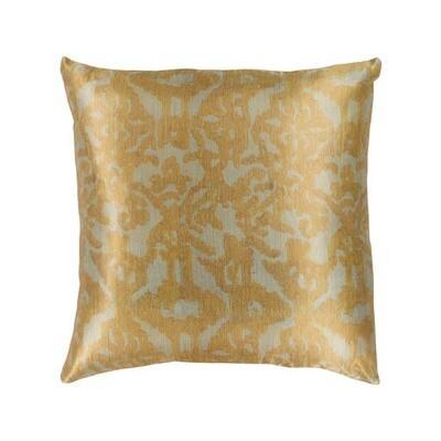 Yellow Satin Print Pillow