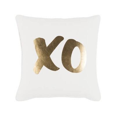 Gold Metallic XO Pillow