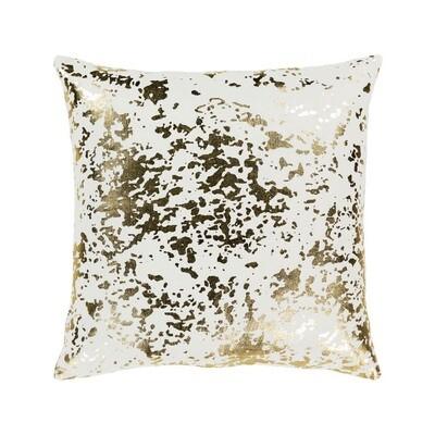 Gold & White Metallic Pillow
