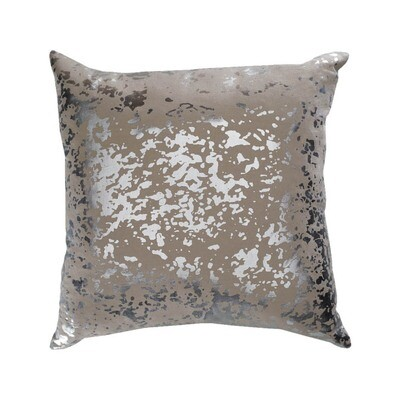 Gray Marbled Print Pillow