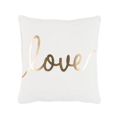 Gold Metallic Love Pillow