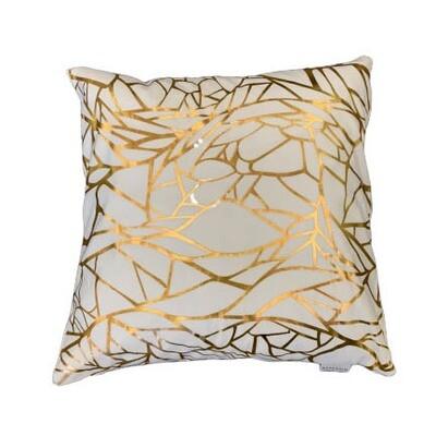 Gold & White Pattern Pillow