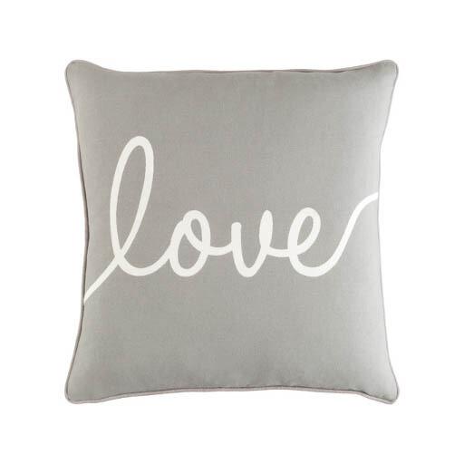 Gray Love Pillow