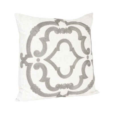 Gray & White Design Pillow