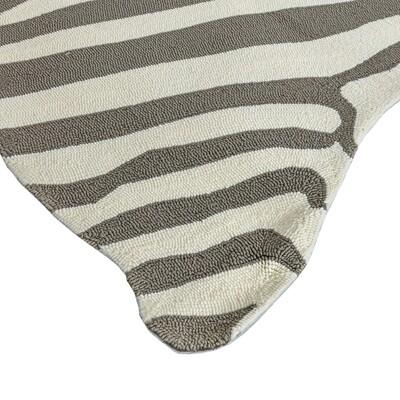 Gray Zebra Woven Rug