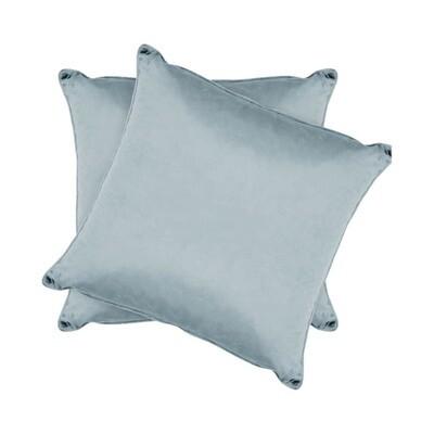 Light Blue Shiny Velvet Pillow