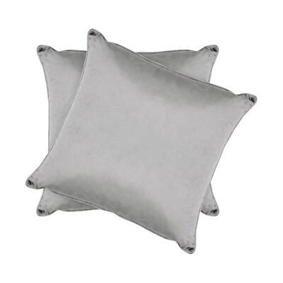Light Gray Shiny Velvet Pillow