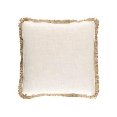 Natural Pillow With Trim