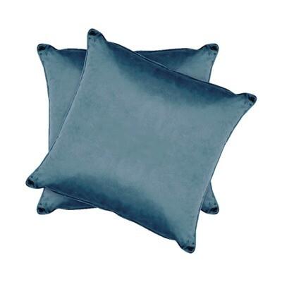 Blue Shiny Velvet Pillow