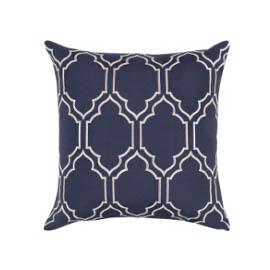 Navy Print Pillow