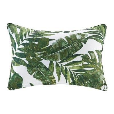 Palm Leaf Print Pillow