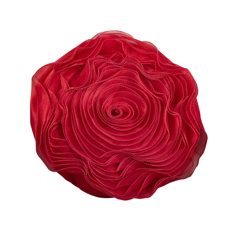 Red Rose Button Pillow