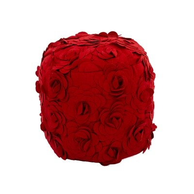 Red Rose Pouf