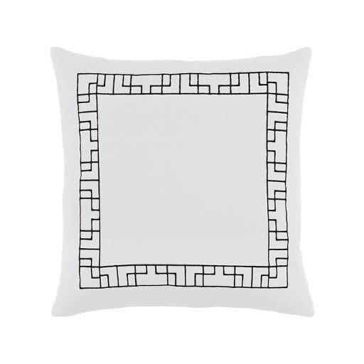 White Border Print Pillow