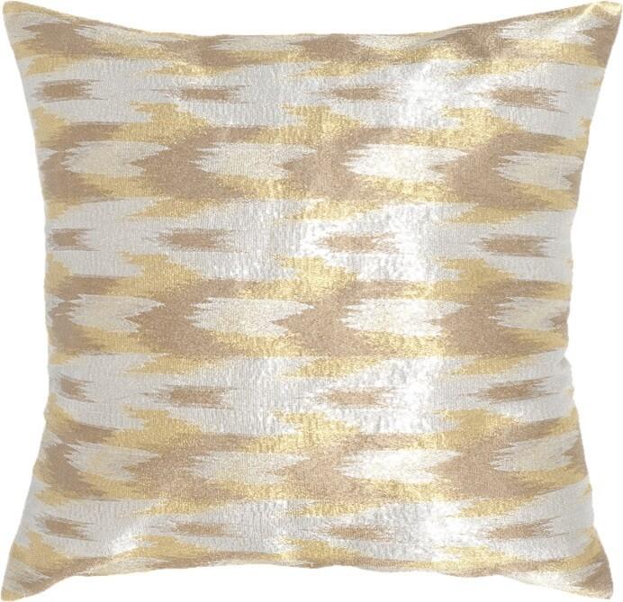 Boho Chic Throw Pillow - Metallic
