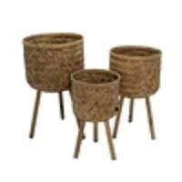 Bamboo Planters - Set of 3
