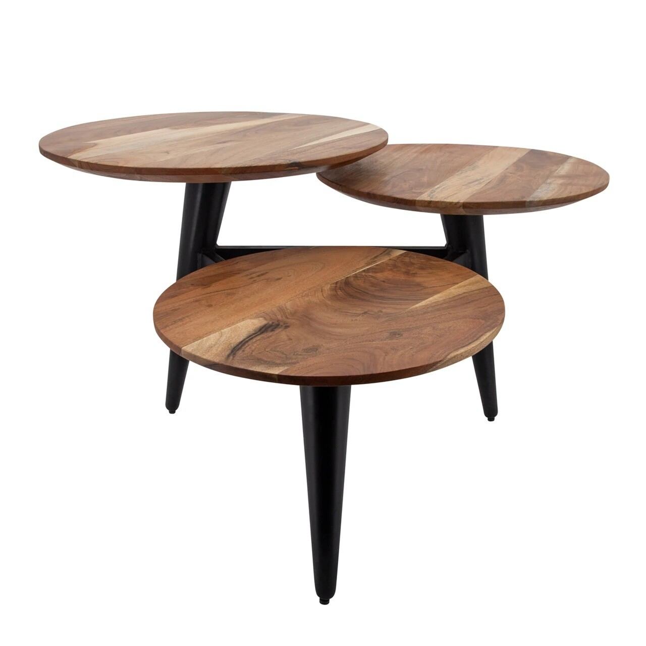"3-Circles Coffee Table - Wood 36"""