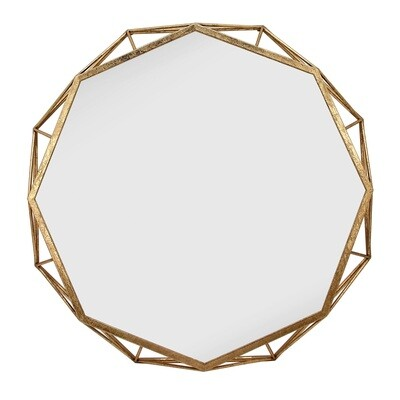 Gold Octagon Mirror 28