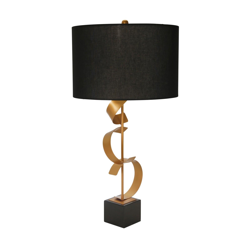 """Abstract Metal Ribbon Table Lamp 37"""""""