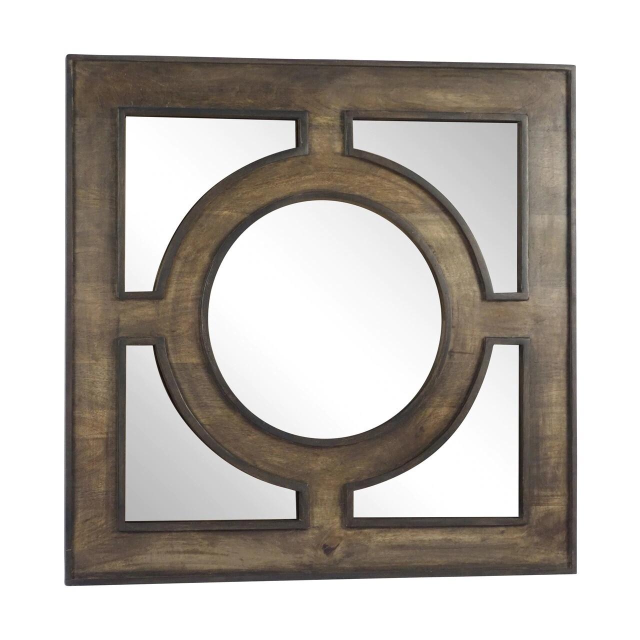 "Wooden 36"" Wall Mirror"