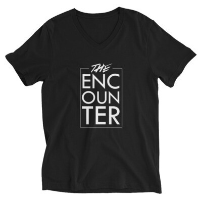 The Encounter Unisex V-Neck T-Shirt (black)
