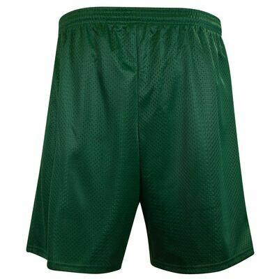 Green mesh short