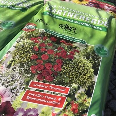 Gärtner Blumenerde mit Tonmineralien 70L