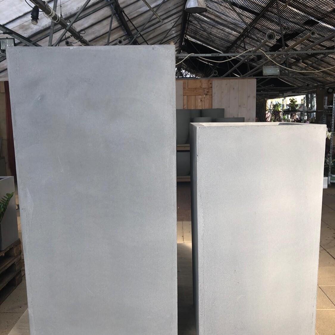 Outdoor Gefäß High Cubic - Fiberstone