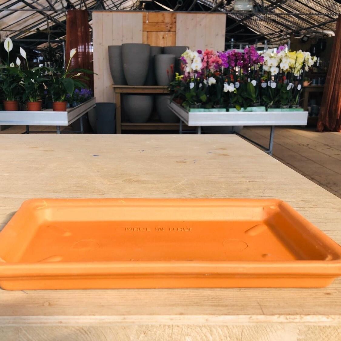 Untersetzer Terracotta zu Blumenkasten