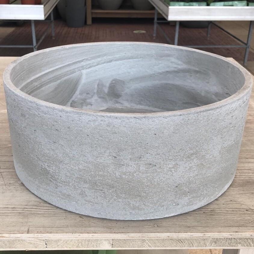 Schale Light Cement gerade hellgrau
