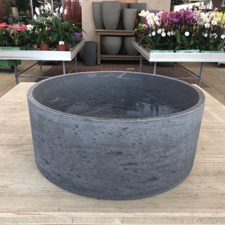 Schale Light Cement gerade dunkelgrau