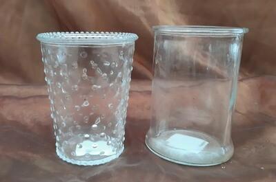 Glasgefäße in verschiedener Optik