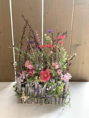 Seidengesteck Frühlingstanz