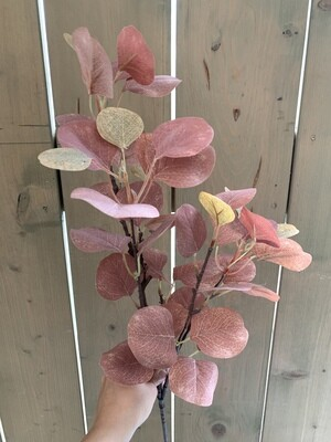 Eukalyptus grün-braun aus Seide