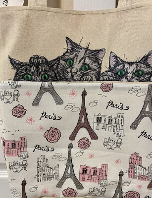Tote Bag With Spying Cats