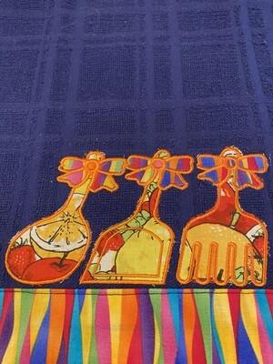 Colorful kitchen towel/appliqué