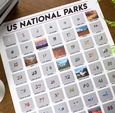 CASC National Park Scratch Off