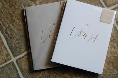 Gold Foil Wedding Vow Books