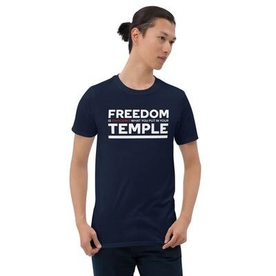 """""""Freedom is..."""" Unisex Short-Sleeve T-Shirt"""