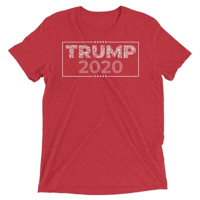 """TRUMP 2020 (2A font)"" Unisex Long Lasting High Quality Tri-Blend  T-Shirt"