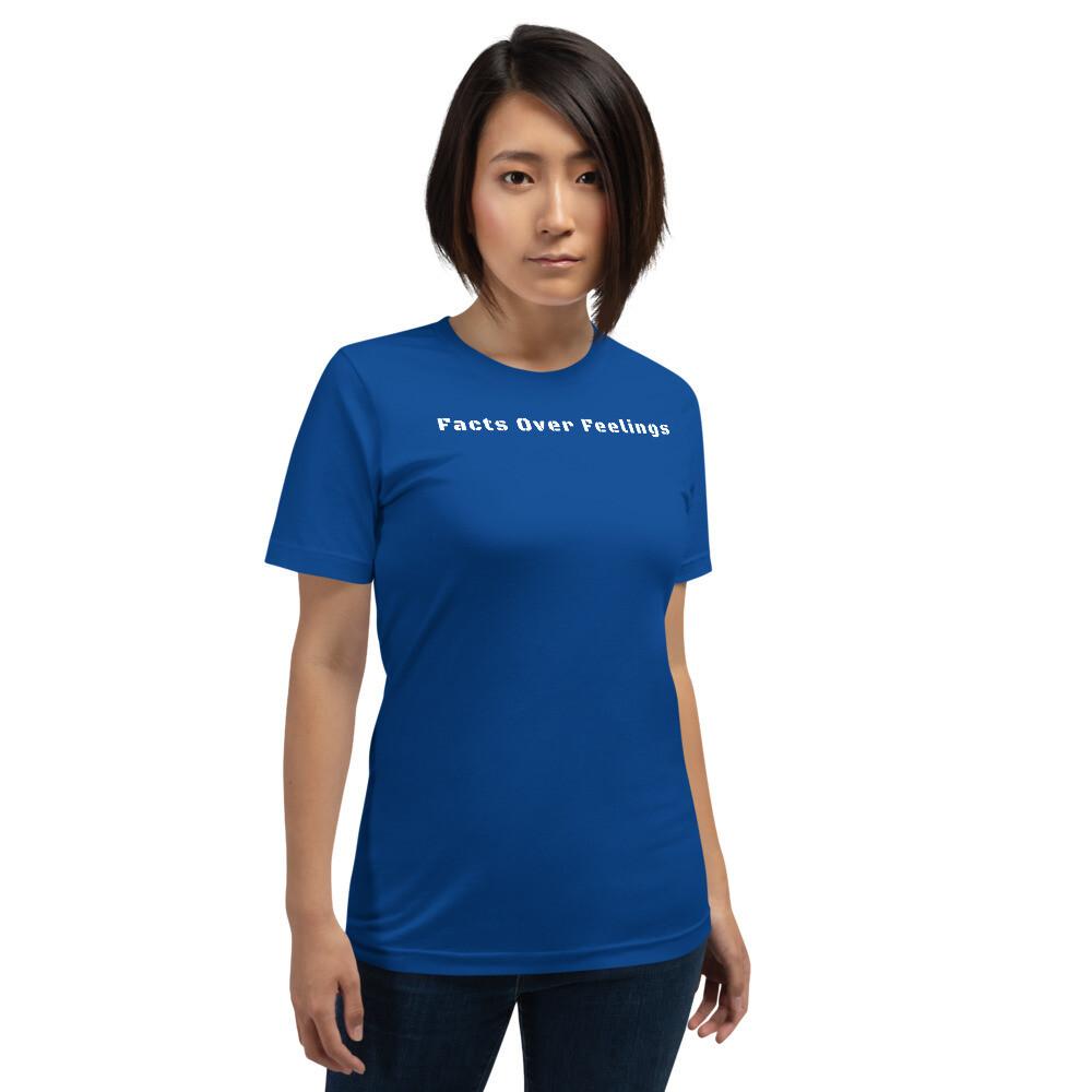 """Facts Over Feelings"" Short-Sleeve Unisex T-Shirt"
