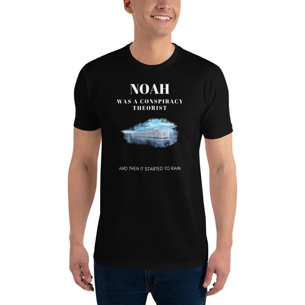 """""""Noah Was a Conspiracy Theorist"""" Men's Short-Sleeve T-Shirt"""