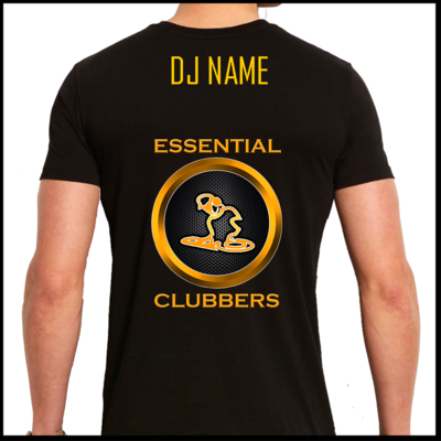 Essential clubbers customisable t-shirt