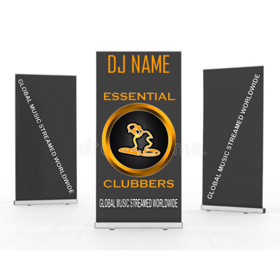 ESSENTIAL CLUBBERS ROLLER BANNER